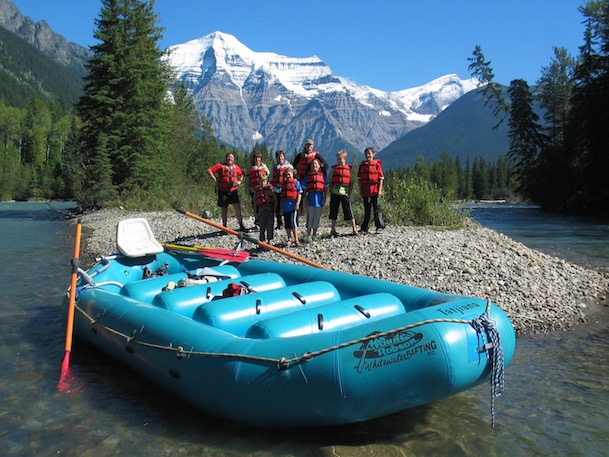 our raft mount robson whitewater