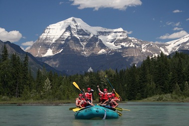 Full day whitewater rafting near Jasper