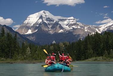 Full day whitewater rafting near Jasper